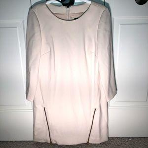 NWT j crew ivory zipper shift dress. 0